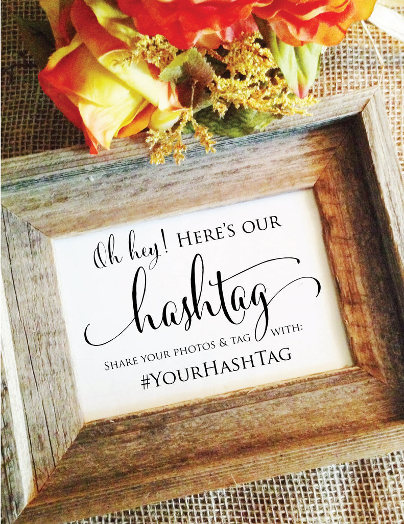 Cute Wedding Hashtags.Wedding Hashtag Sign Social Media Hashtag Wedding Sign Stylish