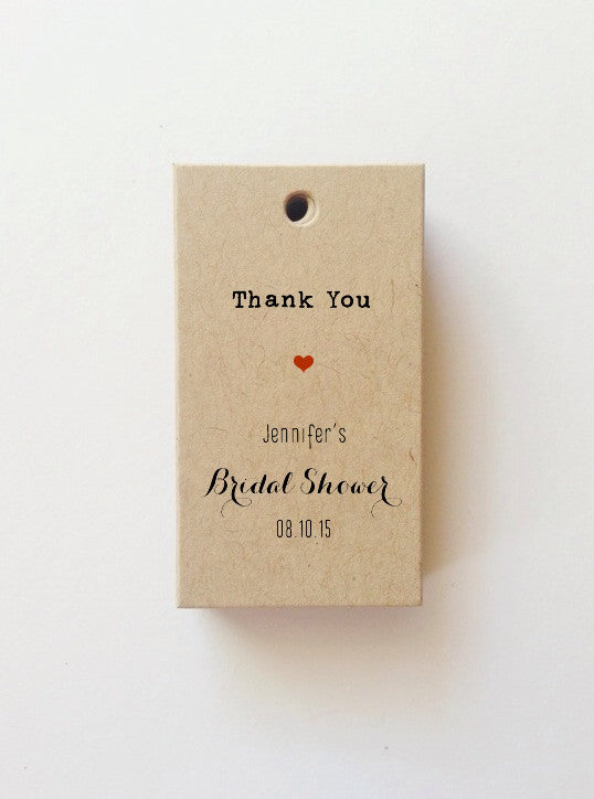 thank you bridal shower gift tags