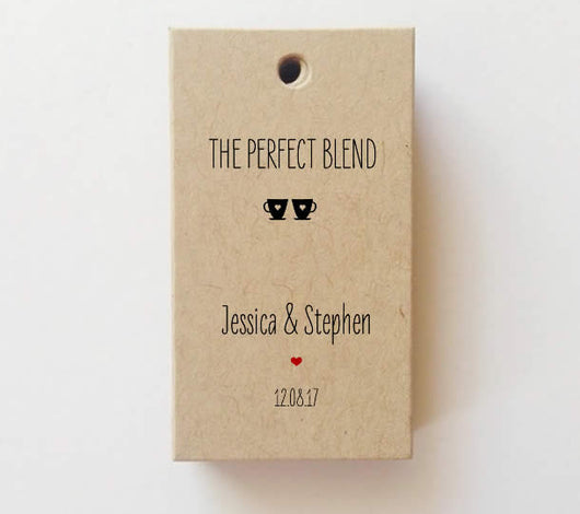 The perfect blend favor tags wedding