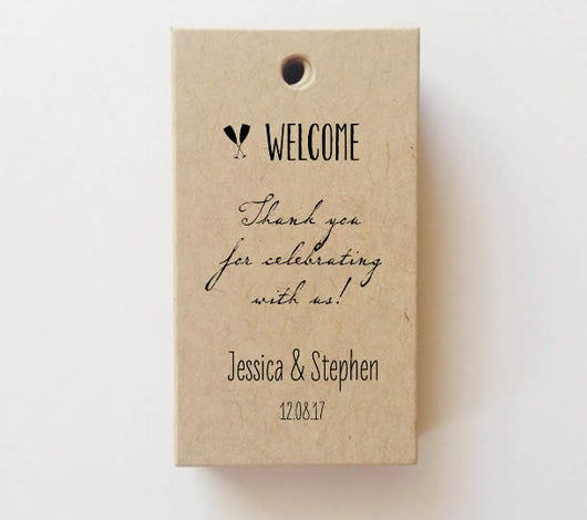 Mini Welcome Tags Favor tags (Rectangle) SET of 25