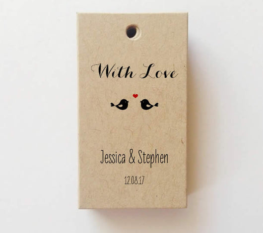 Mini Birds With Love Favor tags (Rectangle) SET of 25