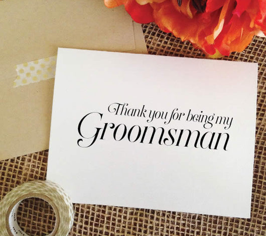 thank you for being my groomsman cards