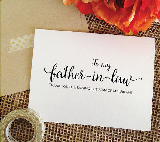 To my Father-in-law on my wedding day Card (Lovely)