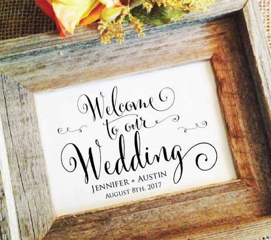 Welcome to our wedding sign, Wedding Welcome Sign