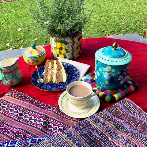 Hand made fabrics and afternoon tea - Pallu Design