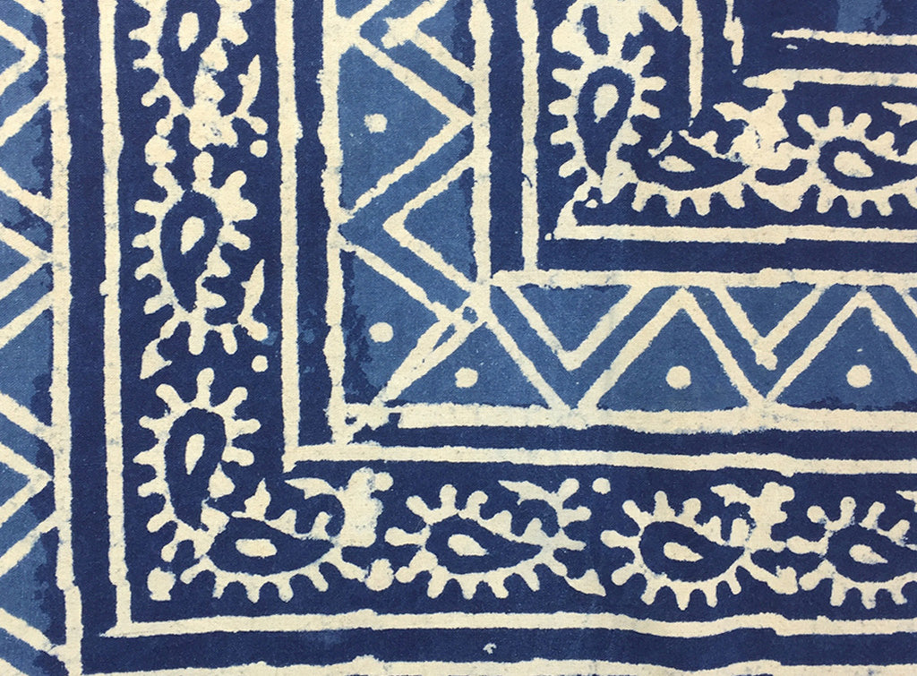 indigo design detail - india - pallu design