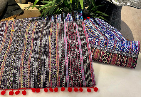 Hmong fabric table runner - Pallu Design