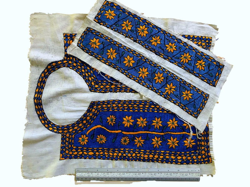 Afghani embroidered bodice and cuff set - Pallu Design