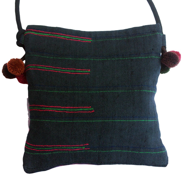 Cross body bag in Hmong Fabric - Pallu Design