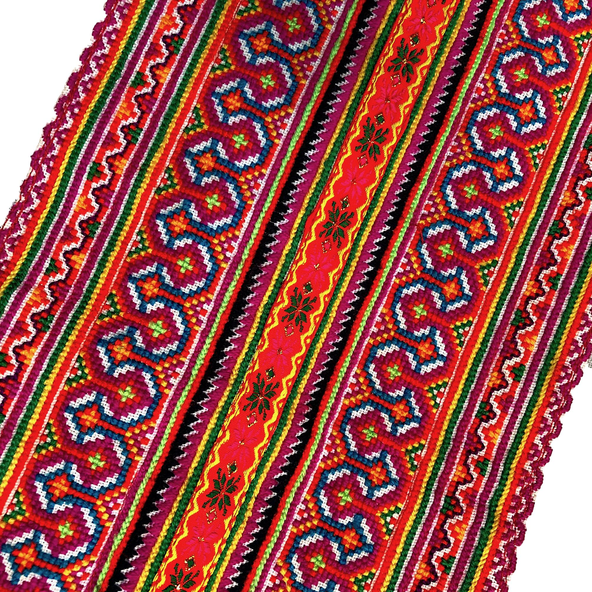 Hmong Cross Stitch Panel for your Decor Projects - Pallu Design