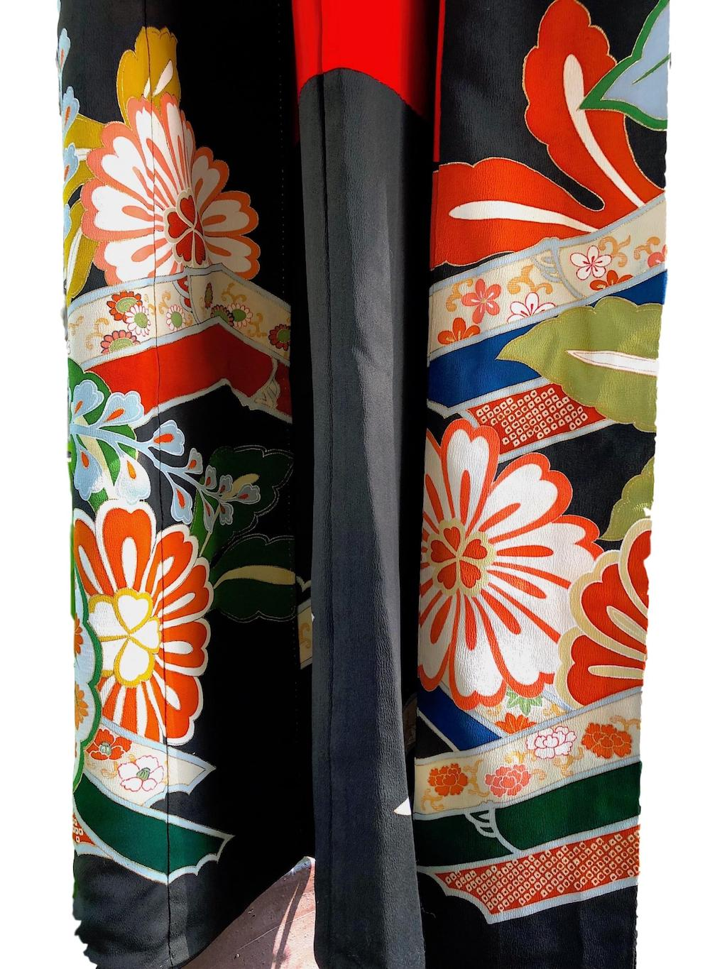 Authentic Silk Japanese Kimono - Pallu Design