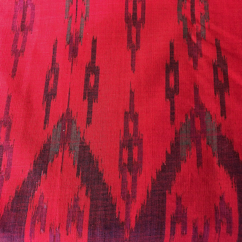 Red Cotton Ikat Fabric - Decor or Sarong 2.3mt