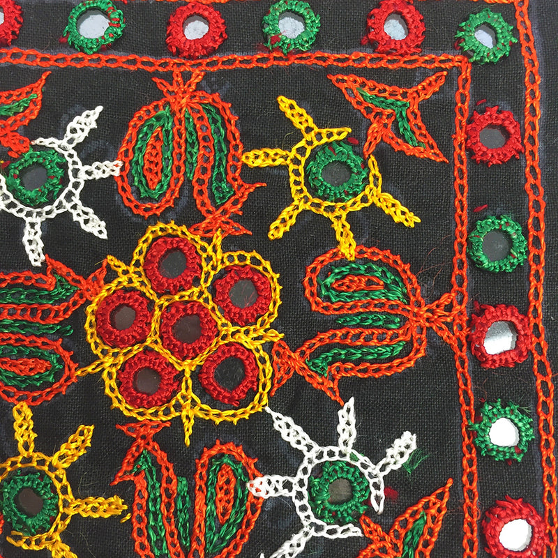Rabari Embroidery Square with Mirror Work