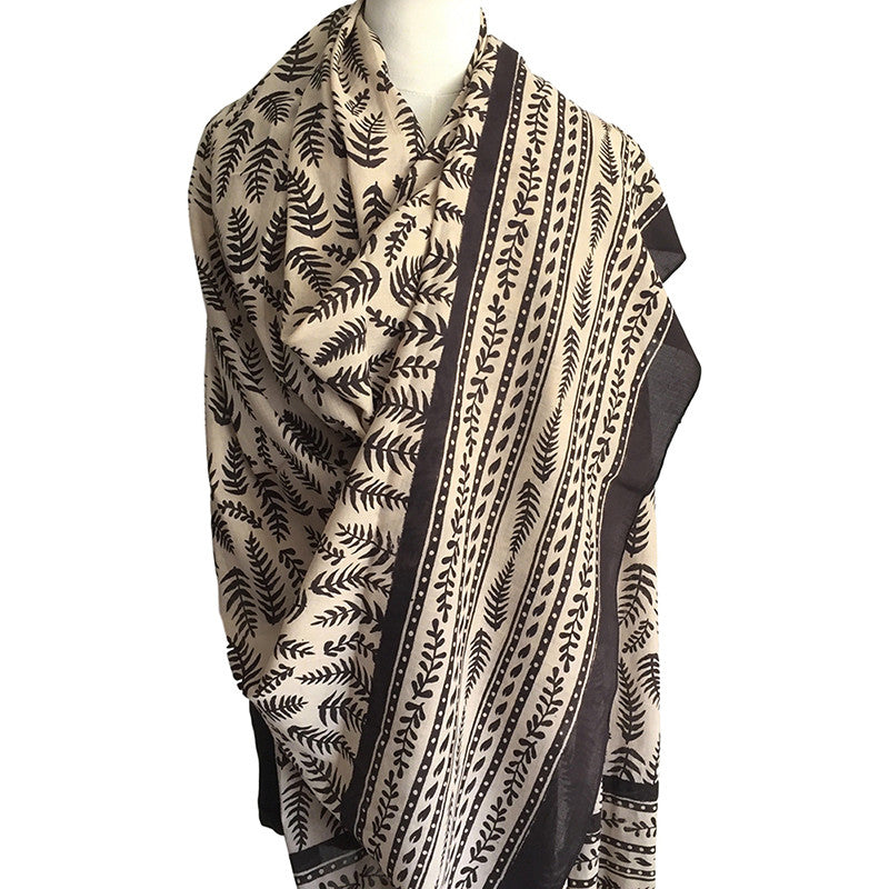 Indian cotton scarf - original block print - Pallu Design