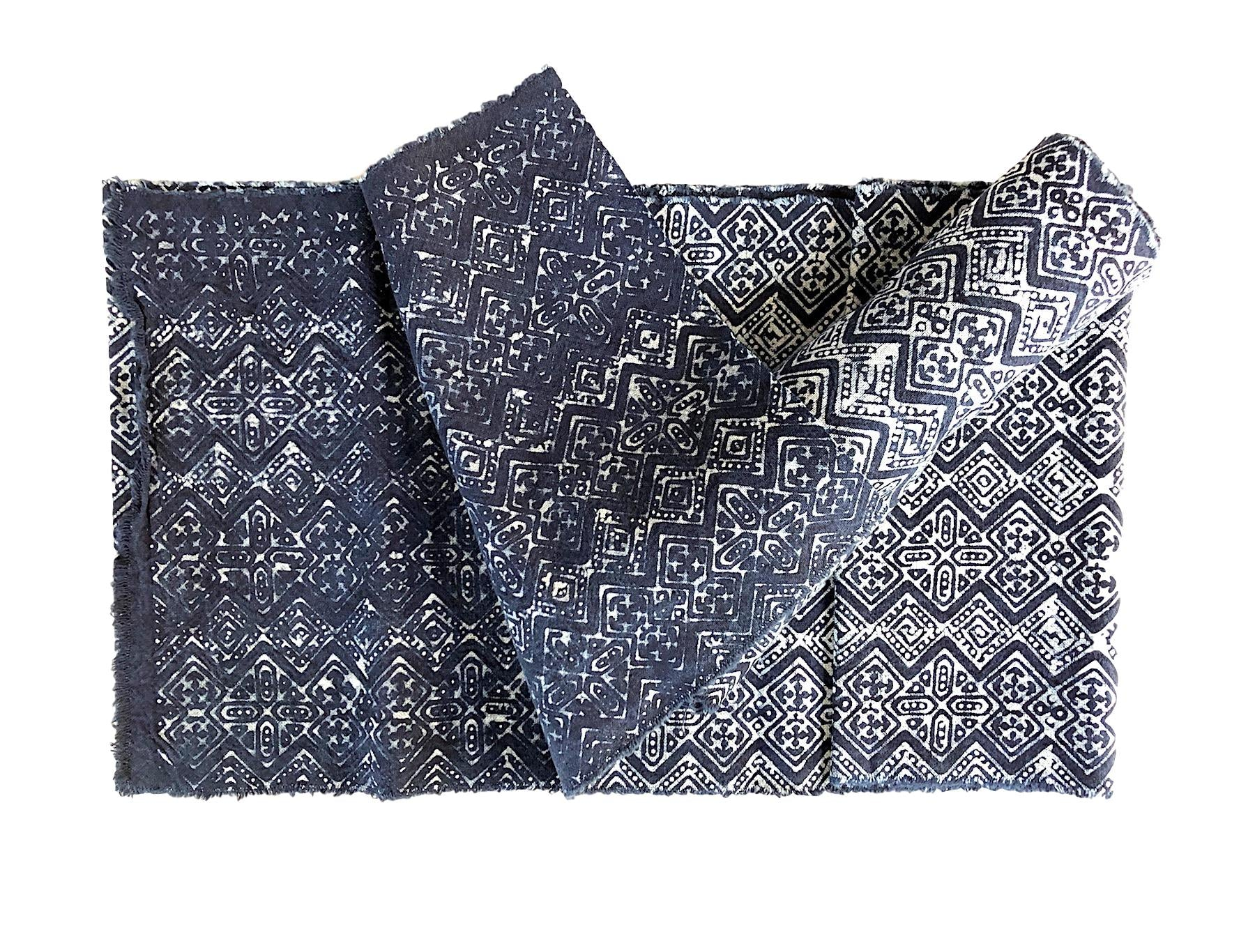 Hmong indigo table runner or decor fabric 2.5mt - Pallu Design