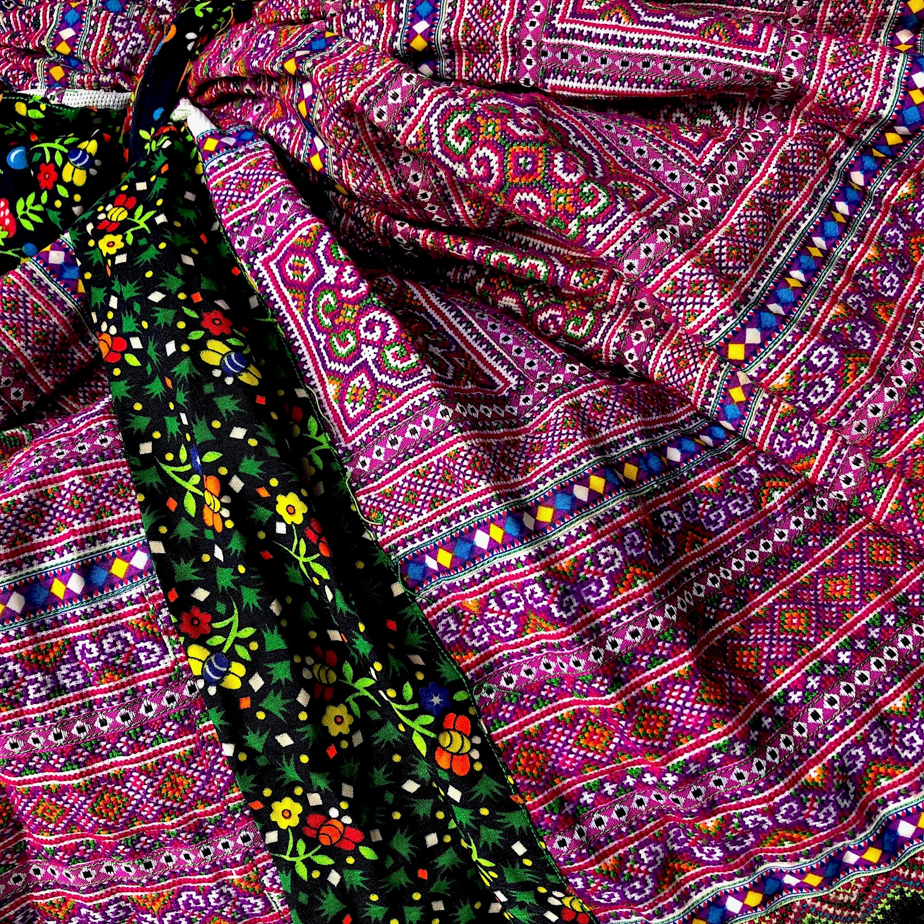 Hmong Skirt - cross stitch and braid - 4.5mt - Pallu Design