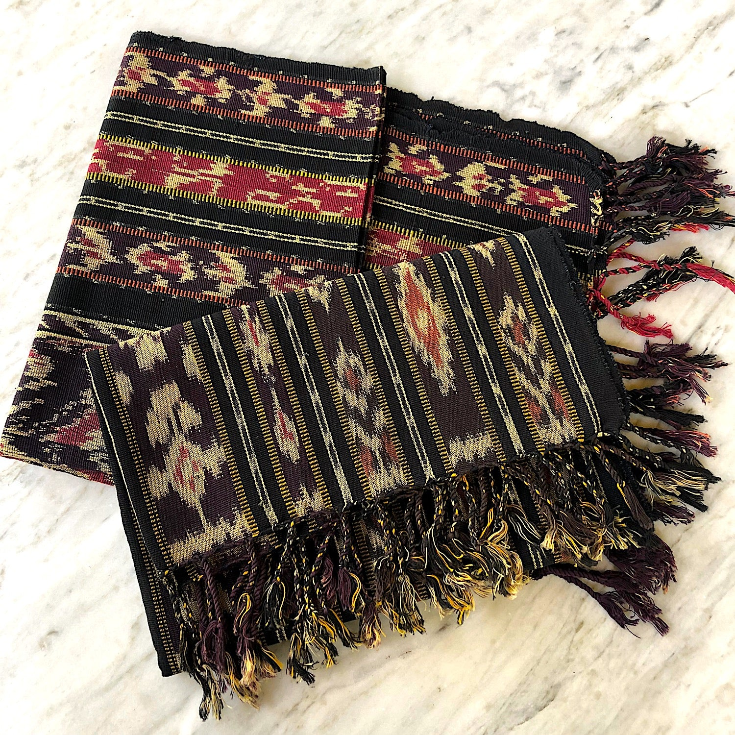 Indonesian ikat table runner - Pallu Design