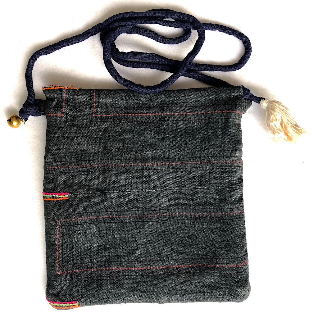 Hemp crossbody bag - passport pouch - Pallu Design
