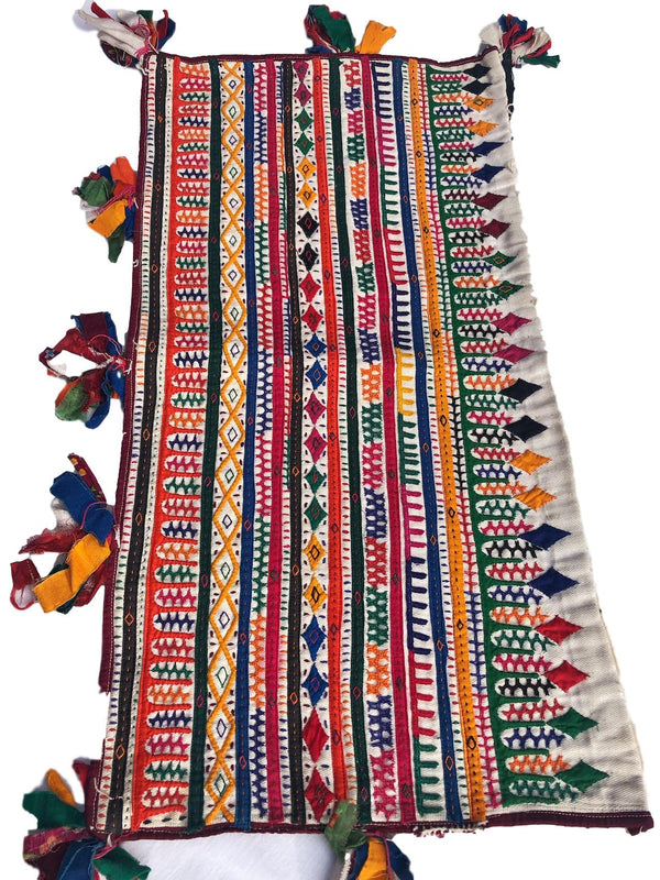 Kutch Applique Embroidered Fabric - Pallu Design