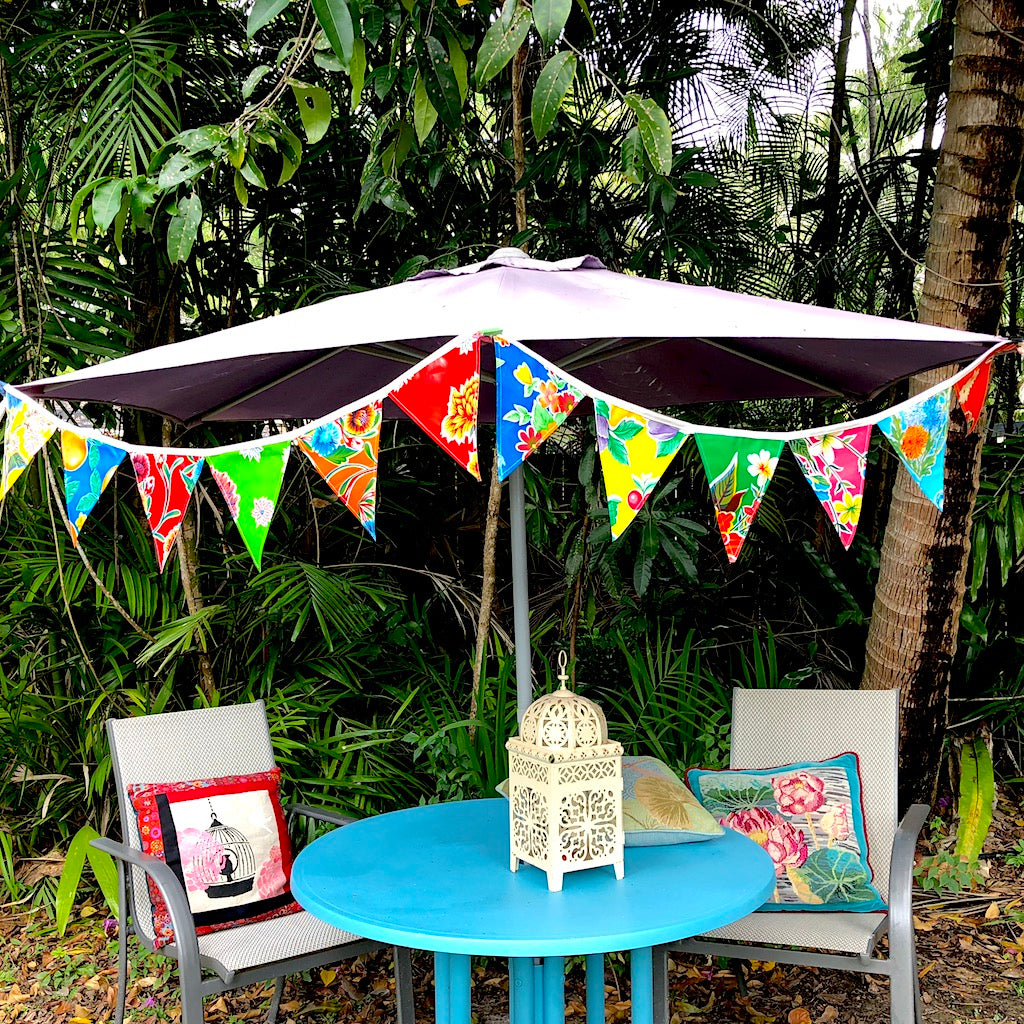 Mexican Oilcloth Bunting for your Celebrations - Pallu Design