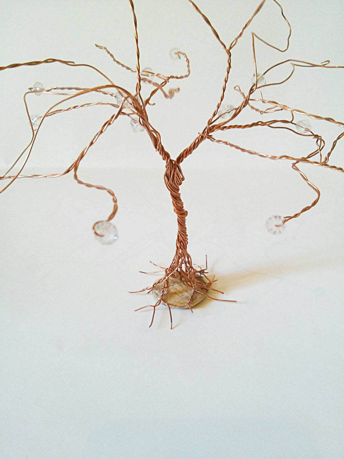 Copper wire decorative gemstone tree, copper wire tree, gemstone wire tree, boho copper wire tree, home decor tree, home decor, hippie decor