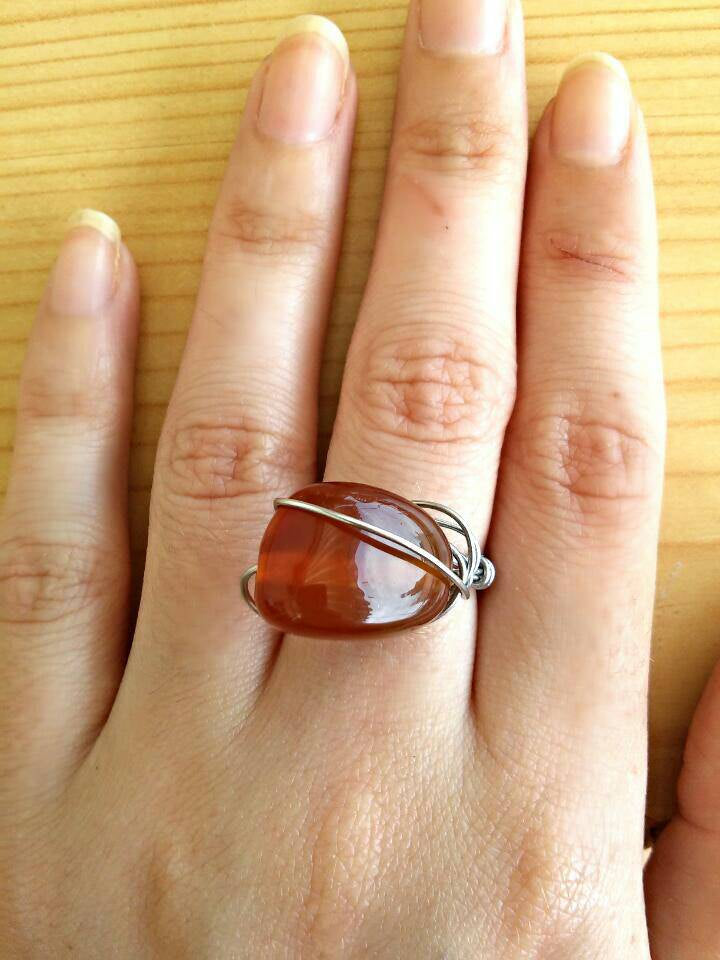 Fire agate stone ring/hippie ring/bohemian ring/boho ring/boho agate ring/hippie style ring/bohemian jewelry/agate ring/ boho girl gift