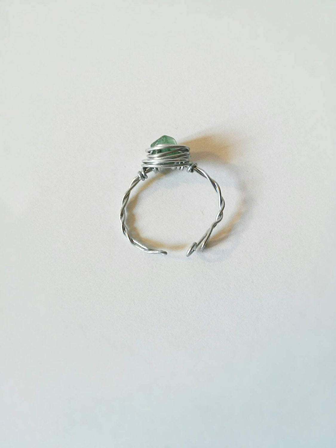 Aventurine stone ring set, boho ring,wire wrapped ring,hippie ring, adjustable ring, boho adjustable ring, hippie green stone ring,boho ring