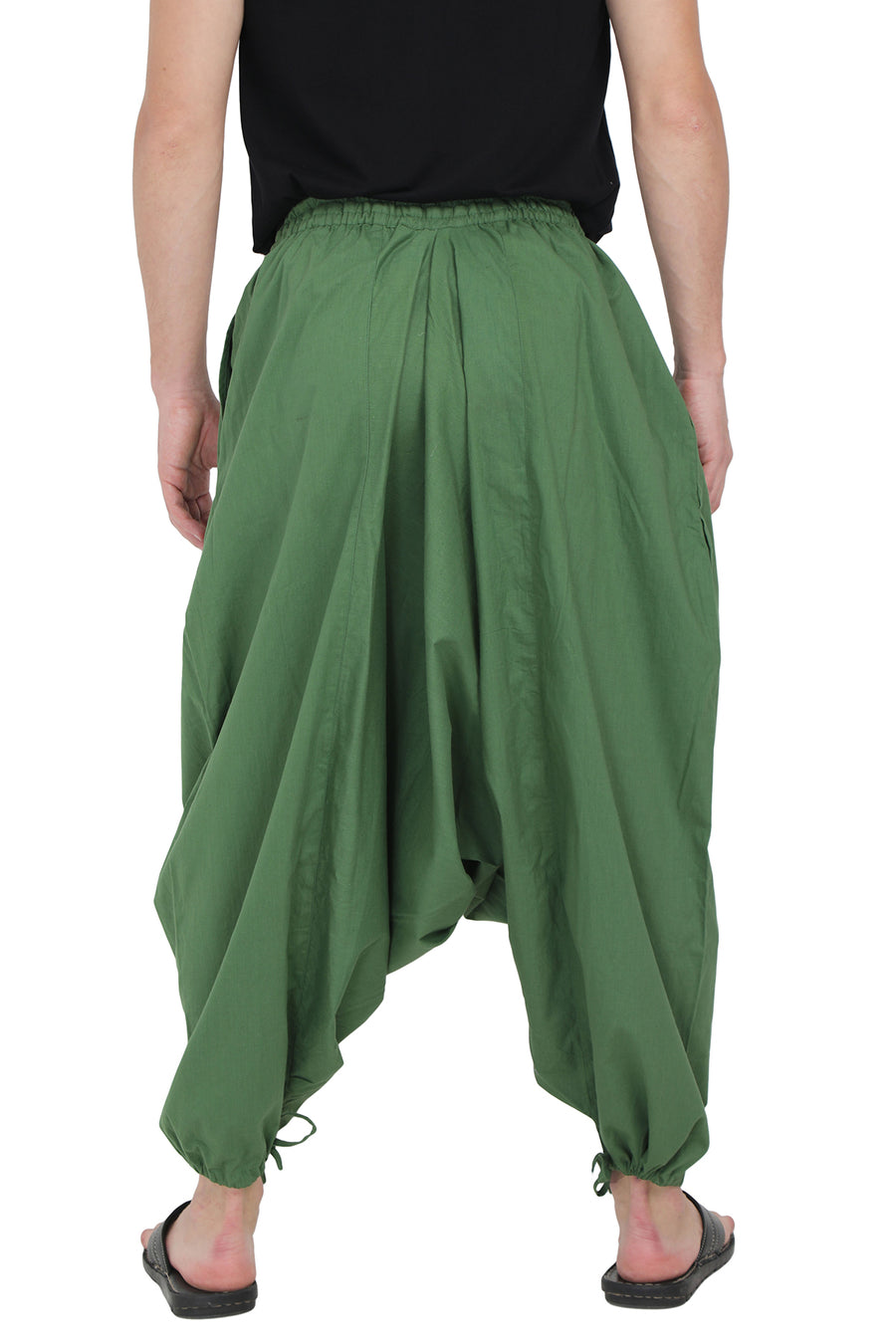 Harem Wide Leg Pants  - Bottom Knot Design