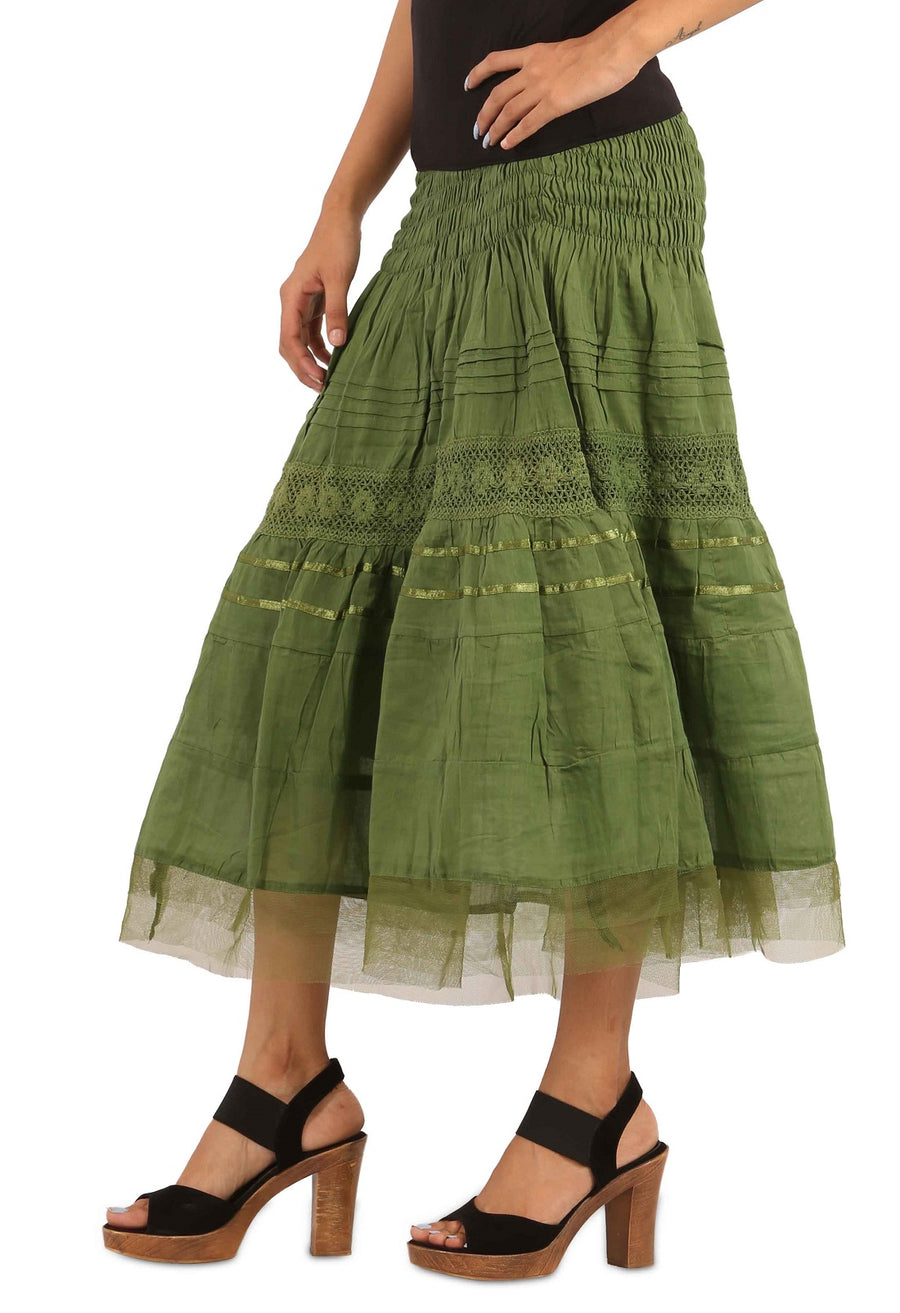long Green skirt, long skirts for women, long skirt, maxi skirt, ladies skirt, skirts online, summer skirts, winter skirts, cute skirts, cotton skirts, XL Skirt, XXL Skirts, Long skirts online , full skirt, long summer skirts, casual skirts