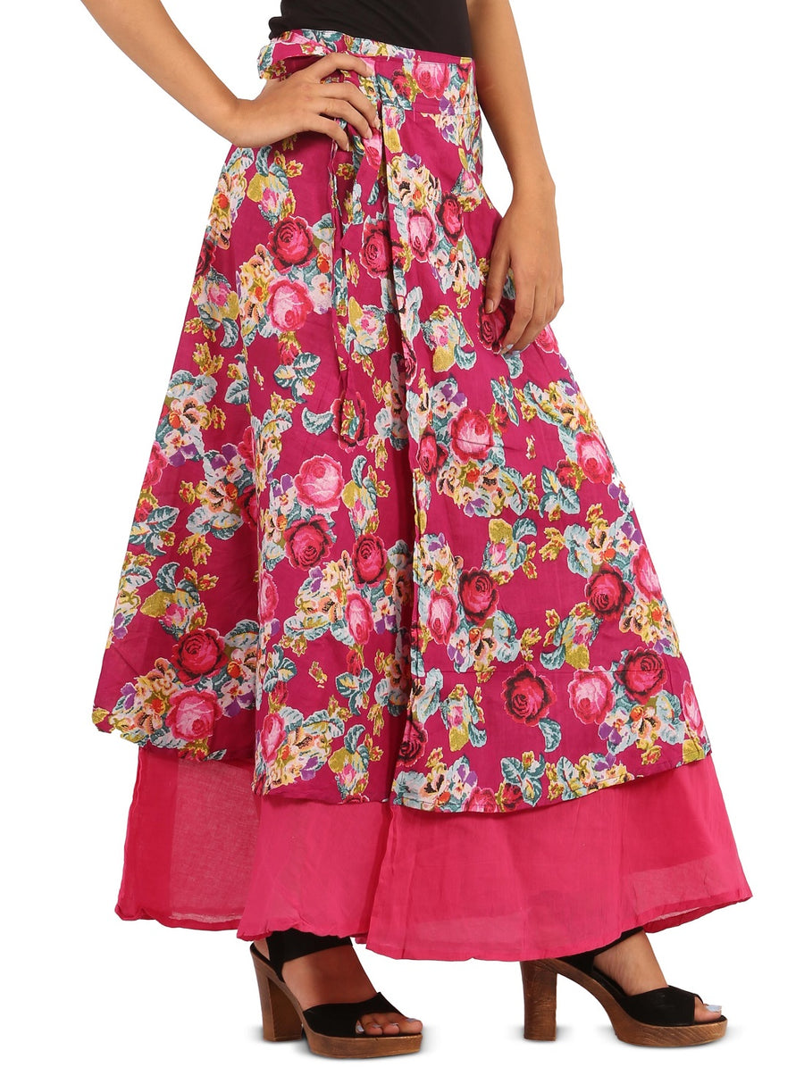 Pink Skirt, Floral Skirt, Skirts For Women, Wrap Around Skirt, High Waisted Skirt, Long Maxi Skirt, Skirts Online, Summer Skirts, Long Skirt, Cute Skirts, Cotton Skirts,Full Skirt, Long Summer Skirts,  Buy Skirts Online