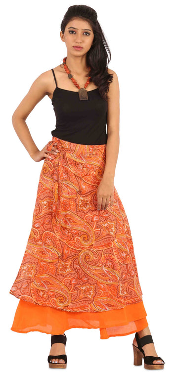 Orange Skirt, Floral Skirt, Skirts For Women, Wrap Around Skirt, High Waisted Skirt, Long Maxi Skirt, Skirts Online, Summer Skirts, Long Skirt, Cute Skirts, Cotton Skirts,Full Skirt, Long Summer Skirts,  Buy Skirts Online