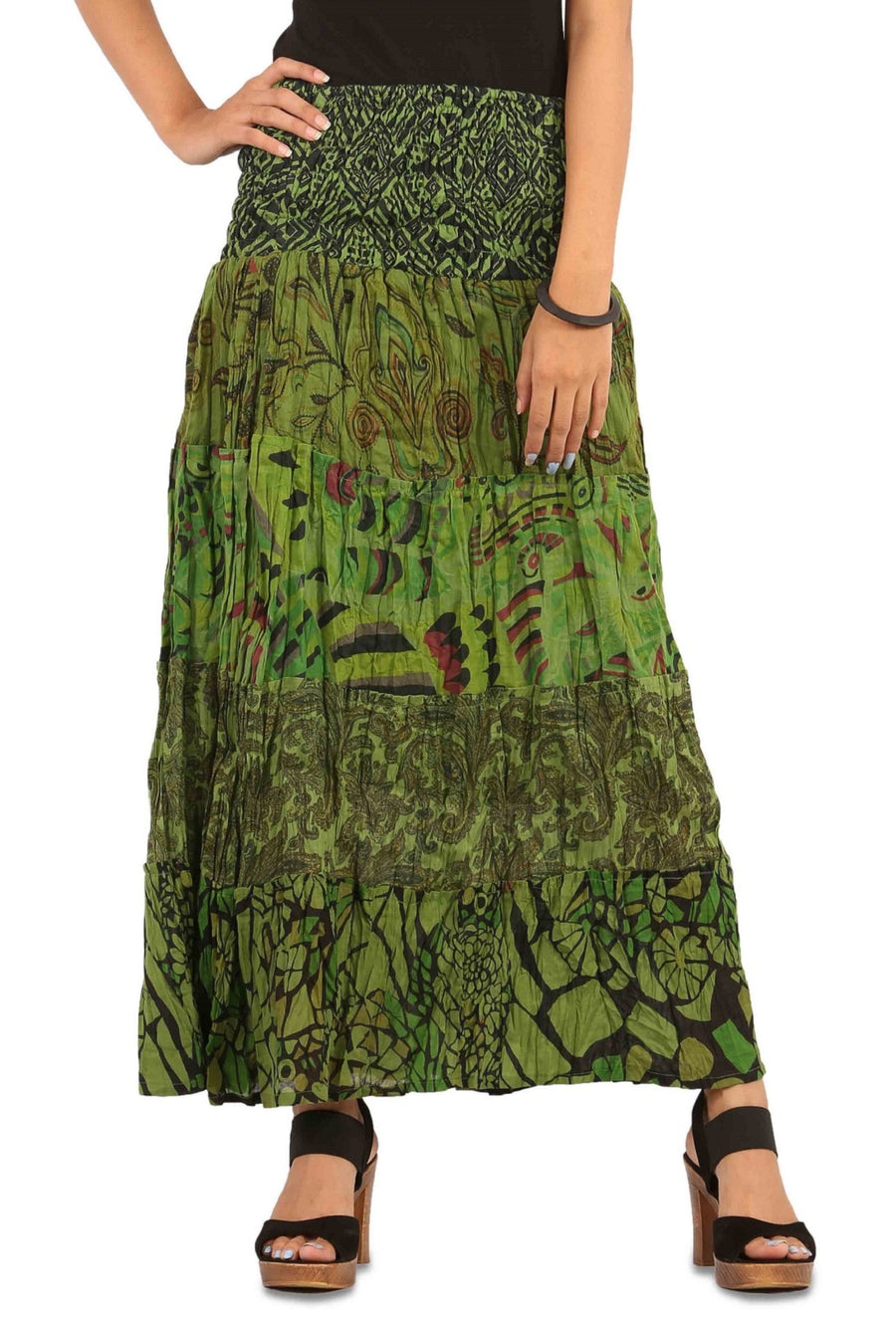Green Skirt, Floral Skirt, Skirts For Women, High Waisted Skirt, Long Maxi Skirt, Skirts Online, Summer Skirts, Long Skirt, Cute Skirts, Cotton Skirts,Full Skirt, Long Summer Skirts,  Buy Skirts Online