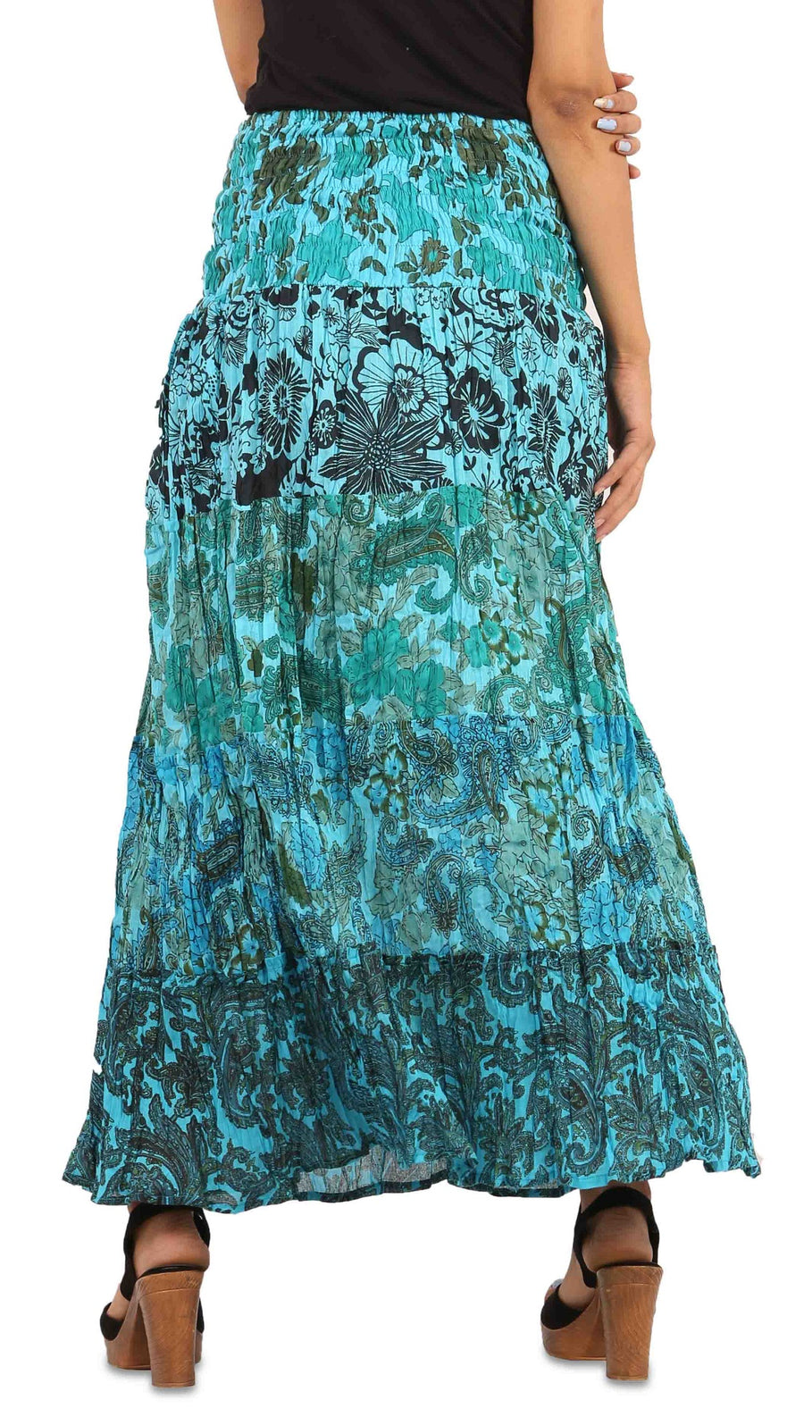 Blue Skirt, Floral Skirt, Skirts For Women, High Waisted Skirt, Long Maxi Skirt, Skirts Online, Summer Skirts, Long Skirt, Cute Skirts, Cotton Skirts,Full Skirt, Long Summer Skirts,  Buy Skirts Online