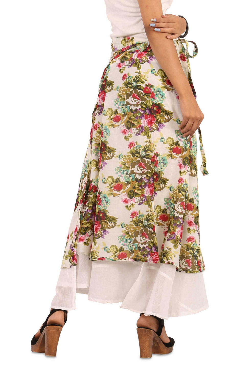White Skirt, Floral Skirt, Skirts For Women, Wrap Around Skirt, High Waisted Skirt, Long Maxi Skirt, Skirts Online, Summer Skirts, Long Skirt, Cute Skirts, Cotton Skirts,Full Skirt, Long Summer Skirts,  Buy Skirts Online