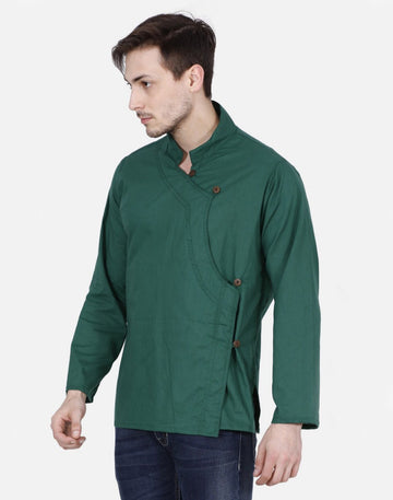 THS Mens Boys Yoga Stylish Kurta - Green