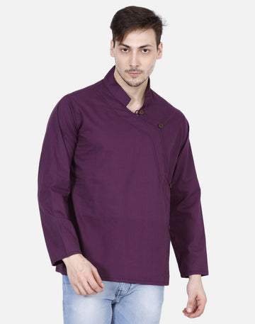THS Mens Boys Yoga Stylish Kurta - Purple