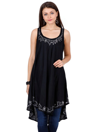 women's rayon tops,rayon tops,maternity tops, evening tops, black tops for women, ladies black tops, black top online, black blouse, black v neck top, embroidered top, black embroidered top,embroidered tunic