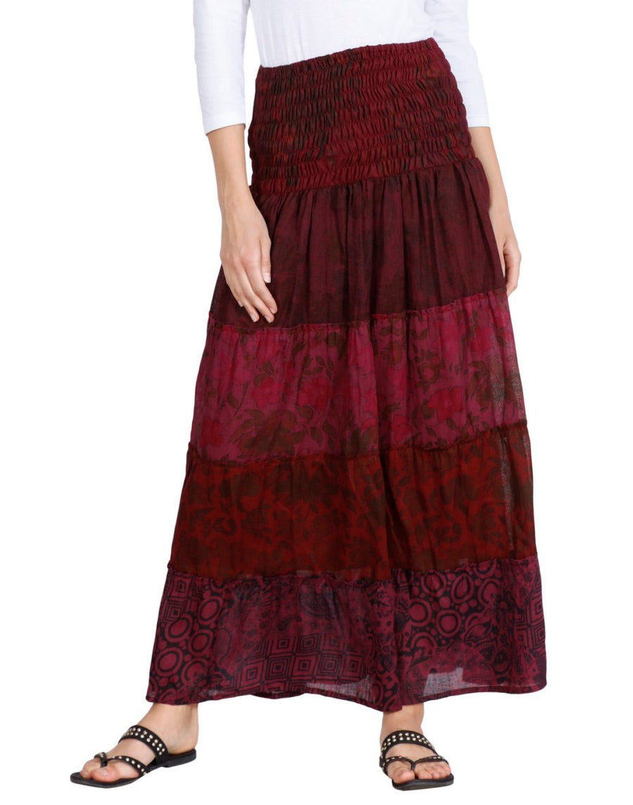 Maroon Skirt, Floral Skirt, Skirts For Women, High Waisted Skirt, Long Maxi Skirt, Skirts Online, Summer Skirts, Long Skirt, Cute Skirts, Cotton Skirts,Full Skirt, Long Summer Skirts,  Buy Skirts Online