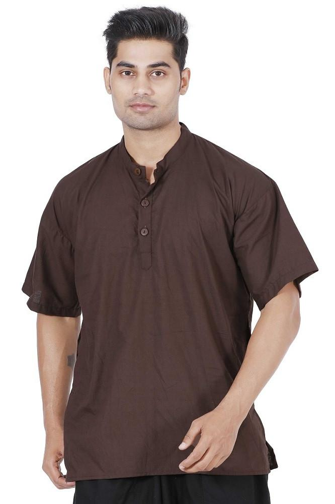 Men Brown Kurta, Boys kurta, Mens T-shirt, Boys T-shirt, Mens kurta Online, Mens cotton Kurta, mens Large kurta, Hippie kurta, yoga kurta, Travel kurta, Travel T-shirt, travel top