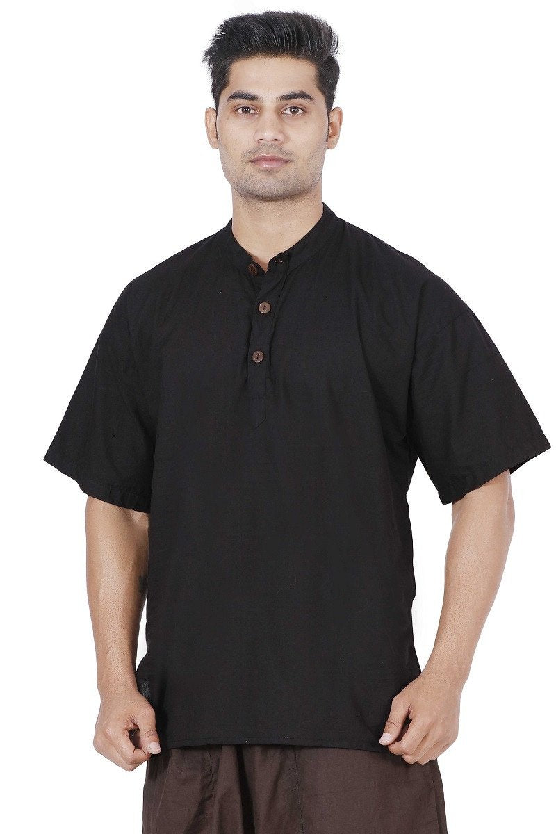 Men Black Kurta, Boys kurta, Mens T-shirt, Boys T-shirt, Mens kurta Online, Mens cotton Kurta, mens Large kurta, Hippie kurta, yoga kurta, Travel kurta, Travel T-shirt, travel top