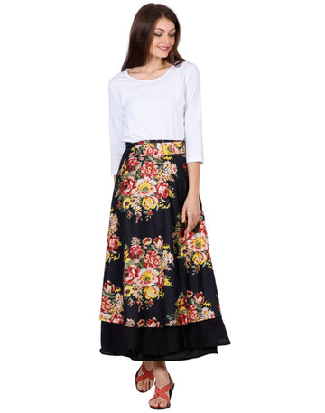 Black Skirt, Floral Skirt, Skirts For Women, Wrap Around Skirt, High Waisted Skirt, Long Maxi Skirt, Skirts Online, Summer Skirts, Long Skirt, Cute Skirts, Cotton Skirts,Full Skirt, Long Summer Skirts,  Buy Skirts Online