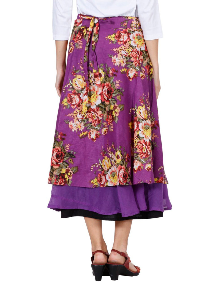 Purple Skirt, Floral Skirt, Skirts For Women, Wrap Around Skirt, High Waisted Skirt, Long Maxi Skirt, Skirts Online, Summer Skirts, Long Skirt, Cute Skirts, Cotton Skirts,Full Skirt, Long Summer Skirts,  Buy Skirts Online