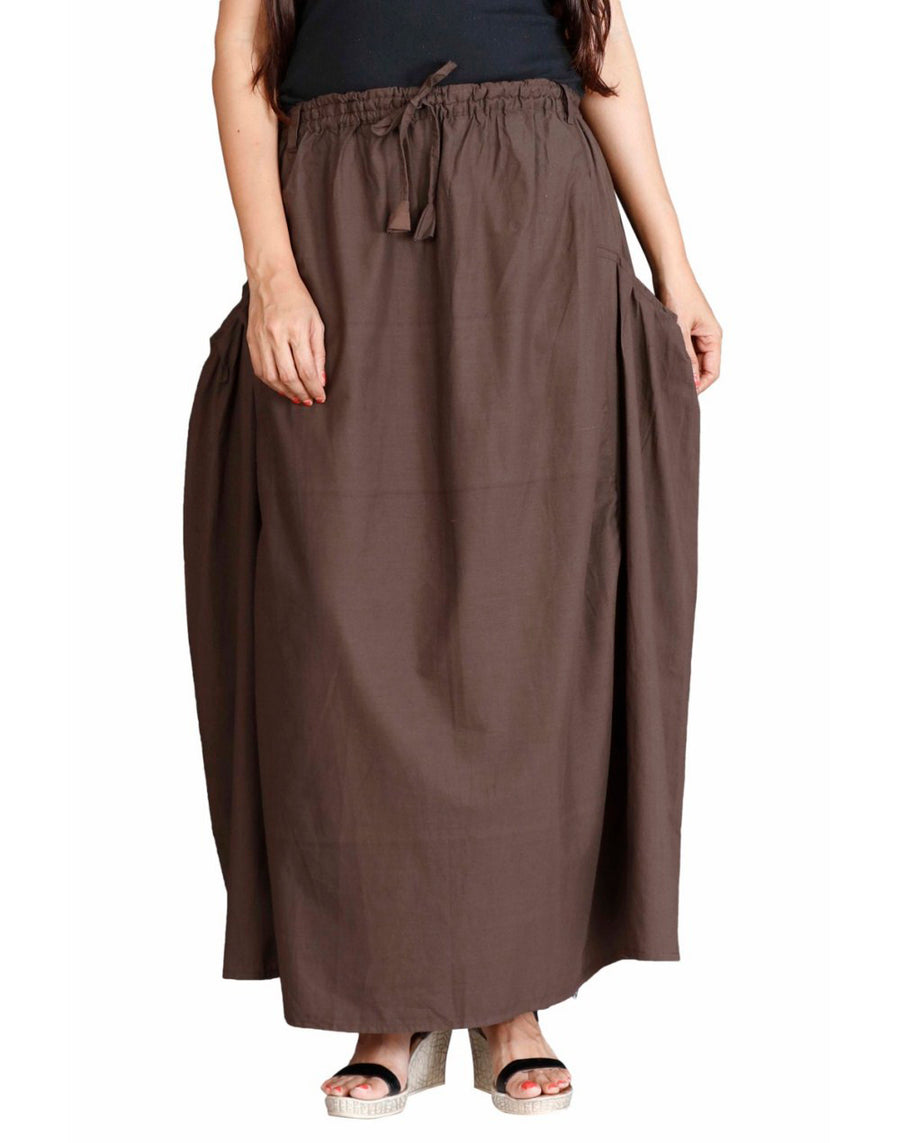 long brown skirt, long skirts for women, long skirt, maxi skirt, ladies skirt, skirts online, summer skirts, winter skirts, cute skirts, cotton skirts, XL Skirt, XXL Skirts, Long skirts online , full skirt, long summer skirts, casual skirts, Skirts with pockets
