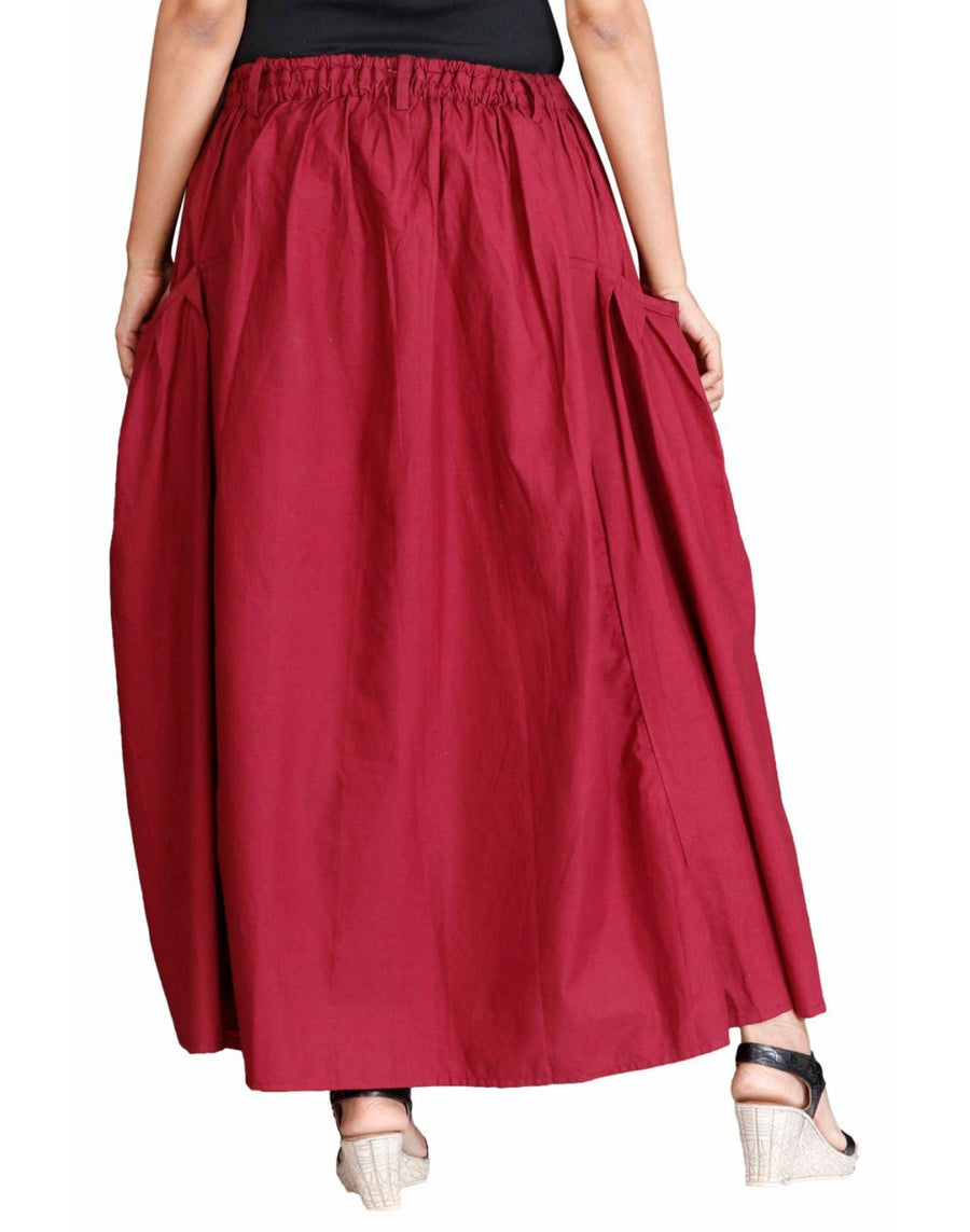 long maroon skirt, long skirts for women, long skirt, maxi skirt, ladies skirt, skirts online, summer skirts, winter skirts, cute skirts, cotton skirts, XL Skirt, XXL Skirts, Long skirts online , full skirt, long summer skirts, casual skirts, Skirts with pockets