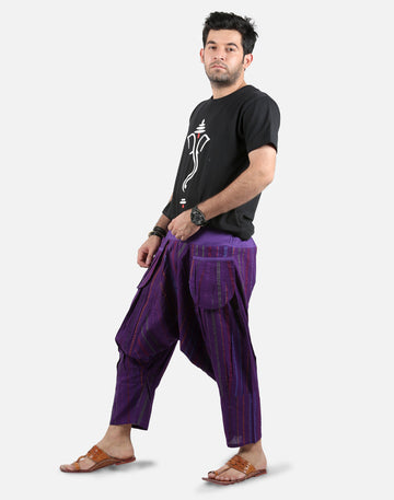 Capri Pants, Mens Hippy Pants, Harem Capris, Purple Harem Pants, Shorts,Beach Shorts , capri