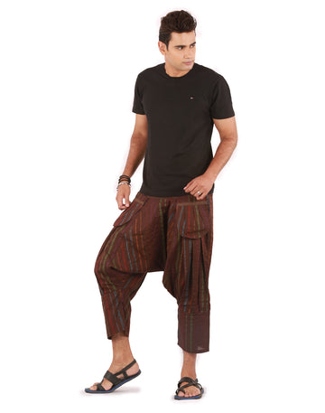 Capri Pants, Mens Hippy Pants, Harem Capris, Brown Harem Pants, Shorts,Beach Shorts , capri, Mens Short, Boys Shorts, Genie Pants, Boho Pants, Hippie Pants