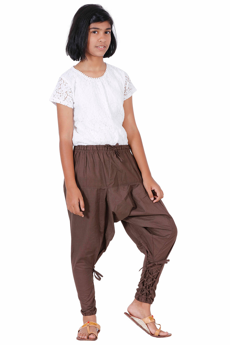 db7e376f9 ... Style Kids Harem Pants, Kids Parachute Pants, Brown Harem Pants for kids,  ...