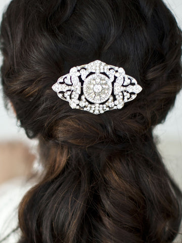 Magnificent Deco Crystal Hair Comb
