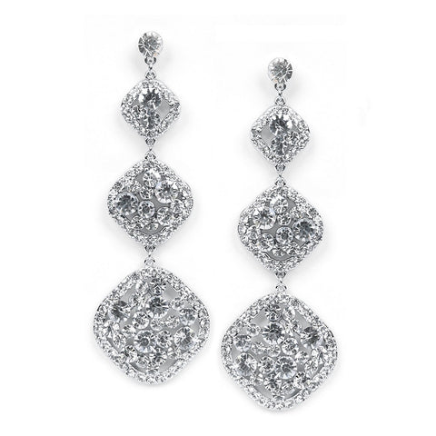 Graduated 3 Tier Shoulder Duster Earrings