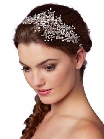 Best-Selling Rose Gold Wedding Hair Vine with Lavish Crystals Sprays